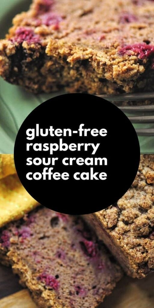 a pinterest pin for gluten free coffee cake