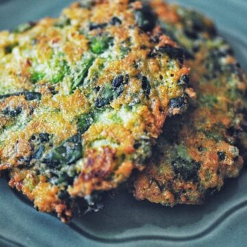 two gluten free fritters spicy