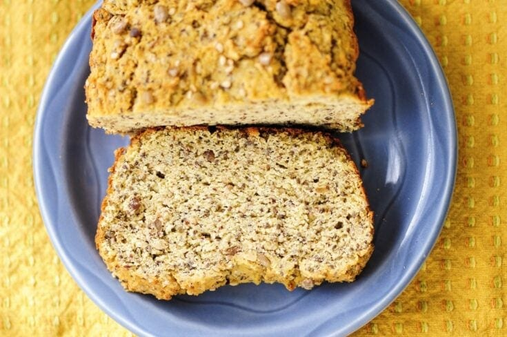 The Yummiest Coconut Flour Seed Bread (Gluten-Free, Keto, Dairy-Free)