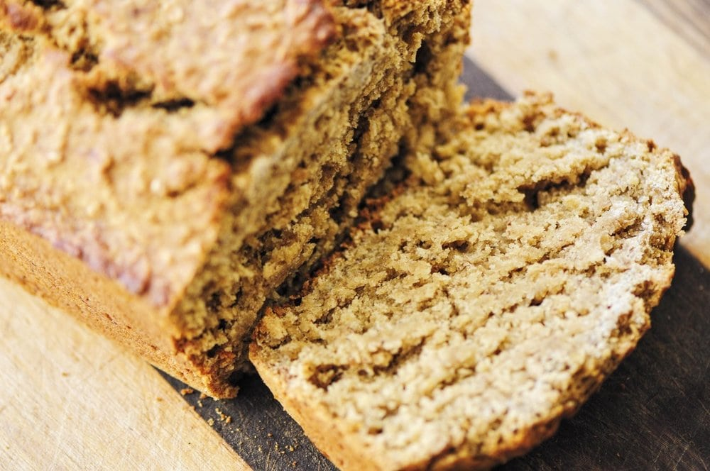 This high-protein and high-fiber Gluten-Free Banana Oat Bread makes for one hearty and filling loaf perfect for breakfast or any time of day! #bananabread #oats #glutenfree #baking #breakfast #healthy #highprotein #glutenfreebananabread