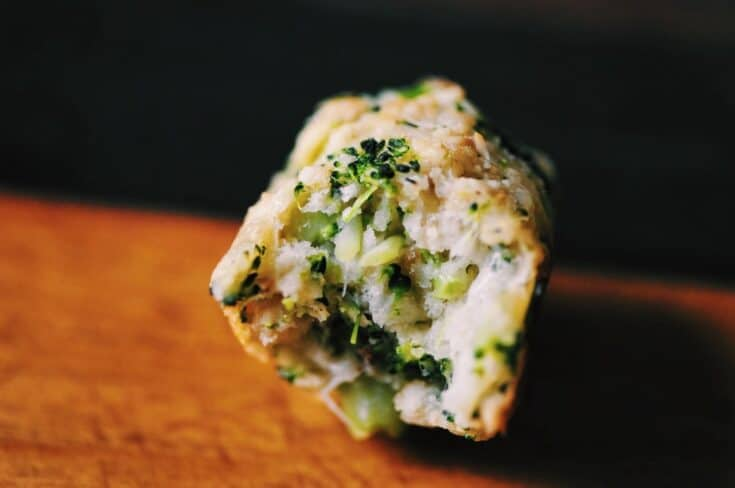Baked Broccoli Tots with Garlic and Parmesan (Gluten-Free)