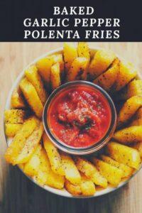 pinterest image for polenta fries