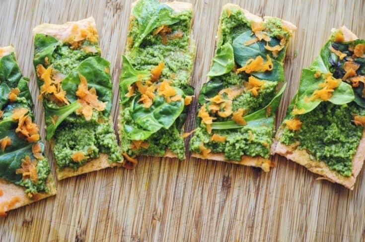 Red Lentil Flatbread Pizza Crust (Gluten-Free, Vegan)