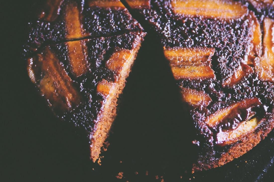 upsidedown gingerbread banana cake285of1529