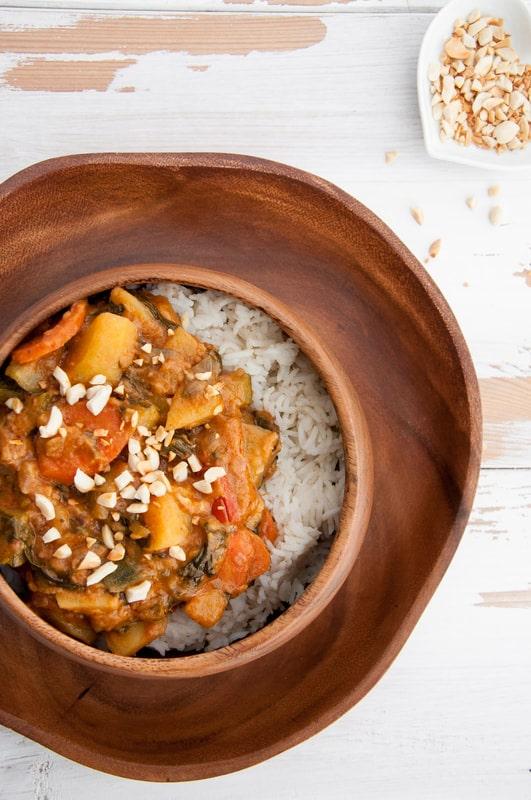 African Peanut Stew from The Veginner's Cookbook by Bianca Haun and Sascha Naderer