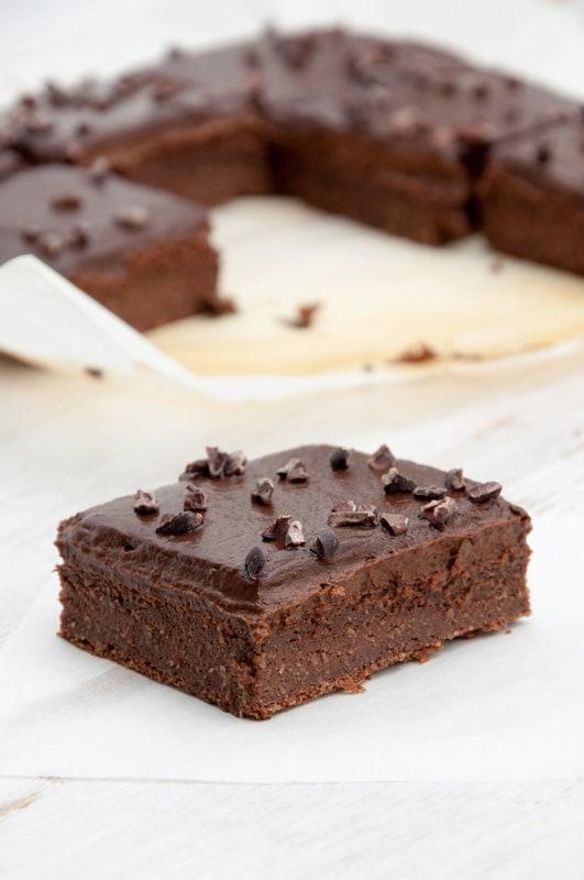 Blender Brownies from The Veginner's Cookbook by Bianca Haun and Sascha Naderer