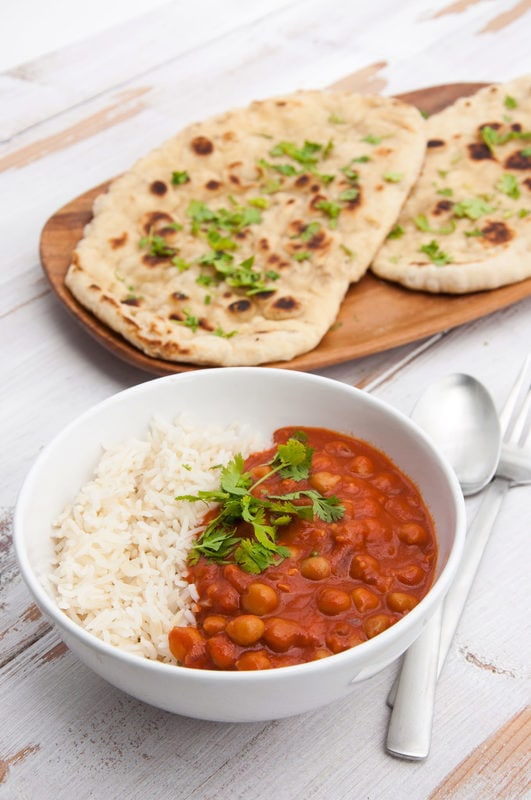 Chickpea Curry from The Veginner's Cookbook by Bianca Haun and Sascha Naderer