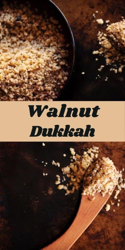 a pinterest pin for walnut dukkah