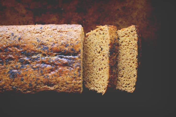 A perfectly moist, subtly sweet, lemon poppy seed loaf made with chickpea (garbanzo bean) flour! This dairy-free and gluten-free chickpea flour bread makes a great healthy breakfast, snack or dessert!