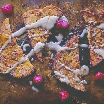 vegan tahini french toast