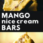 pinterest pin for mango ice cream bars
