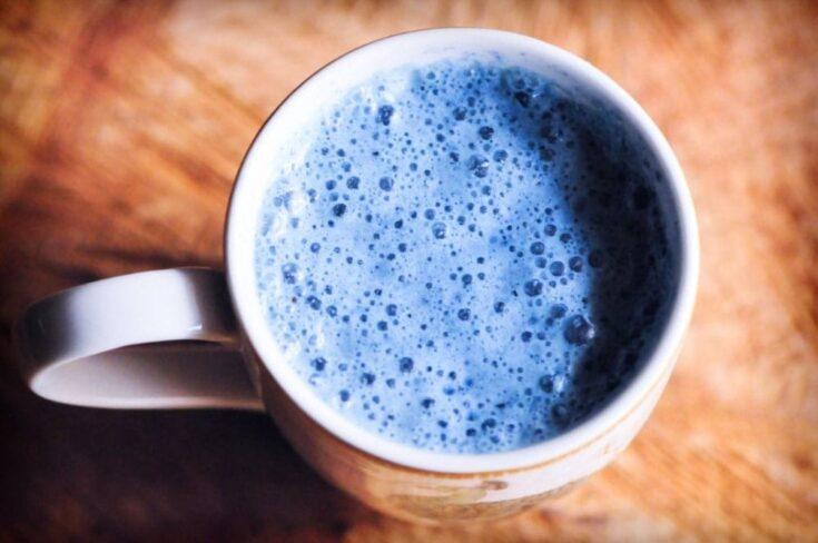 Double Blue Peppermint Moon Milk (Vegan, Gluten-Free)