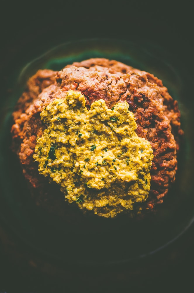This easy and healthy Baked Carrot and Walnut Falafel makes for one delicious high-protein and high-fiber vegan gluten-free meal, side, or snack! It pairs well with my  Turmeric and Cilantro Sunflower Seed Sauce.  #bakedfalafel #falafelpatties #walnutfalafel #carrotfalafel #veganfalafel #glutenfreefalafel #veggieburgers