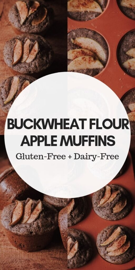 pinterest pin for gluten free apple muffins