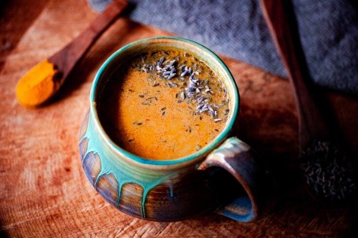 Golden Lavender Cacao Adaptogenic Latte (Vegan)