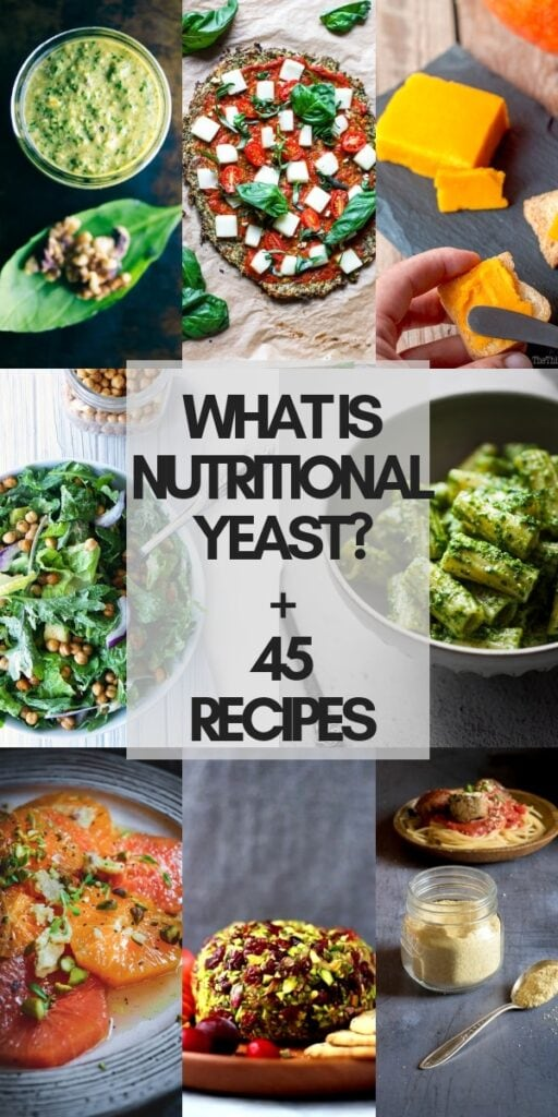 a pinterest pin image for nutritional yeast recipes