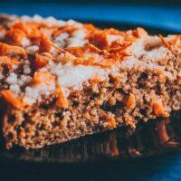 a slice of gluten free carrot cake