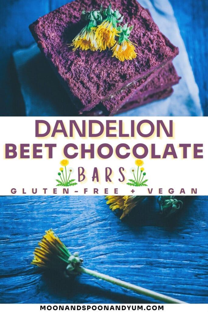 dandelion bars recipe pin