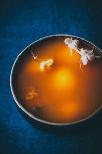 a pot of natural turmeric dye