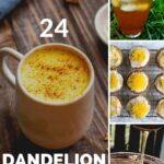 pinterest pin for dandelion recipes