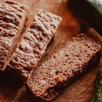 sliced loaf of coconut flour zucchini bread