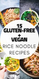 a pinterest pin image for rice noodle recipes