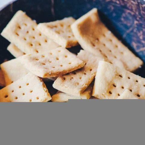 Sea Salt Chickpea Crackers (Gluten-Free, Vegan)