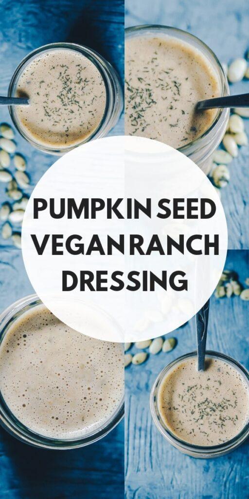a pinterest pin for vegan ranch dressing