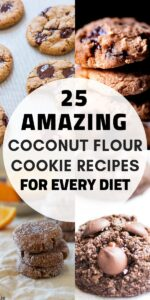 a pinterest pin image for coconut flour cookies