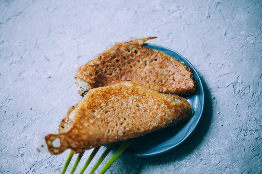 Fermented Buckwheat + Yellow Split Pea (Matar Dal) Dosa Recipe -  A super easy, nutritious and flavorful dosa recipe made with yellow split peas and buckwheat flour for a fun twist! These Indian dosas are fermented for added flavor and gut healing powers. Gluten-free & vegan. #easydosarecipe #dosas #fermenteddosa #yellowsplitpeas #buckwheatflour #buckwheatdosa #indiandosa