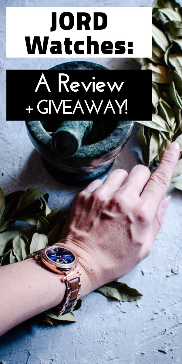 My review of Jord Watches' nature-inspired Cora Polaris self-winding automatic modern watch with a wood & metal constellation design in Walnut & Midnight Blue. #JORD #JORDwatches #watch #watches #walnutwood #celestial #jewelry #JORDwatch #corapolaris #walnutandmidnightblue #GIVEAWAY