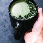 a pinterest pin image for moringa moon milk