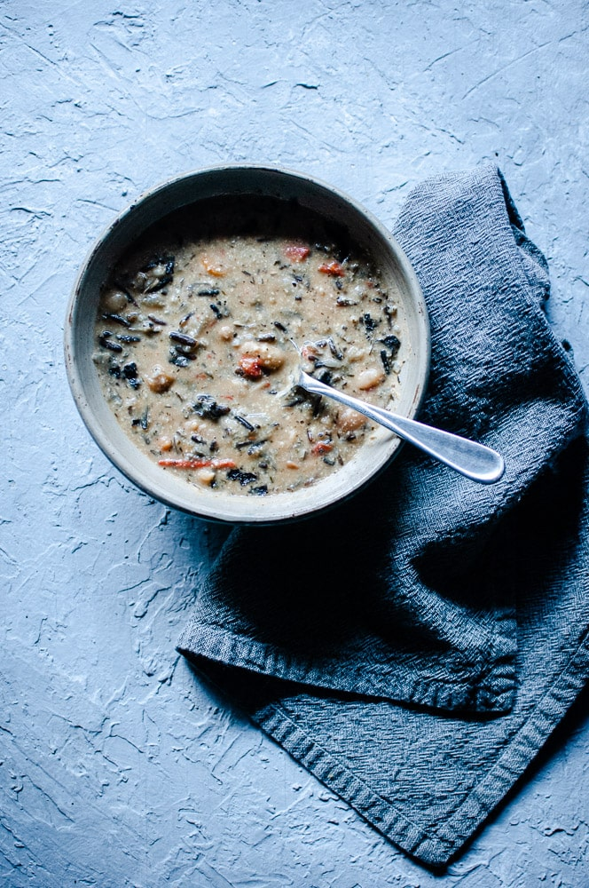 How to make wild rice soup - Vegan Instant Pot Wild Rice Soup (Gluten-Free) - An easy and healthy vegetarian wild rice soup with a creamy cashew base, perfect for a bowl of autumn comfort! This pressure cooker wild rice soup is bursting with beautiful flavors and textures! Made with lovely ingredients from iHerb + a discount! #sponsored #iherb #wildrice #wildricesoup #veganwildricesoup #vegetarianwildrice soup #instantpotwildrice