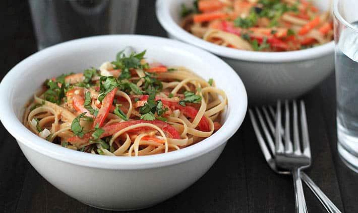 Easy, Flavorful 15-Minute Vegan Peanut Noodles