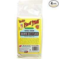 Bob's Red Mill Organic Brown Rice Flour, 24-ounce (Pack of 4)