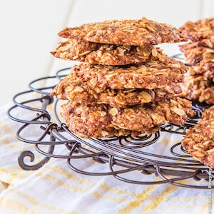 Coconut Flour Anzac Biscuits | Vegan + Dairy-Free + Sugar-Free | Delicious Everyday