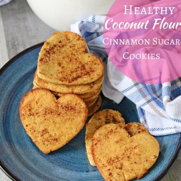 Gluten Free Coconut Flour Cinnamon Sugar Cookies