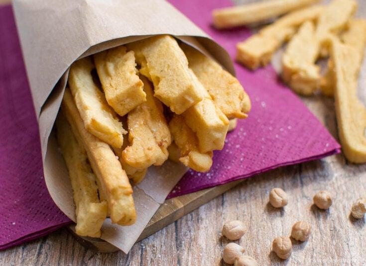 Fried Chickpea flour Sticks (traditional Italian recipe) Gluten Dairy Egg free