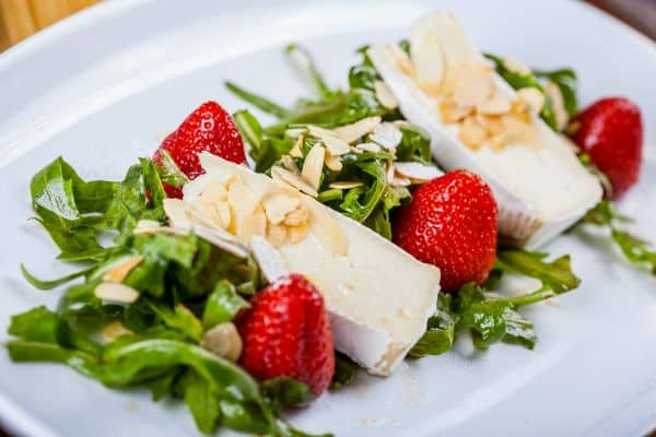 Dandelion Salad with Balsamic Pepper Strawberries recipe. The Flying Couponer.