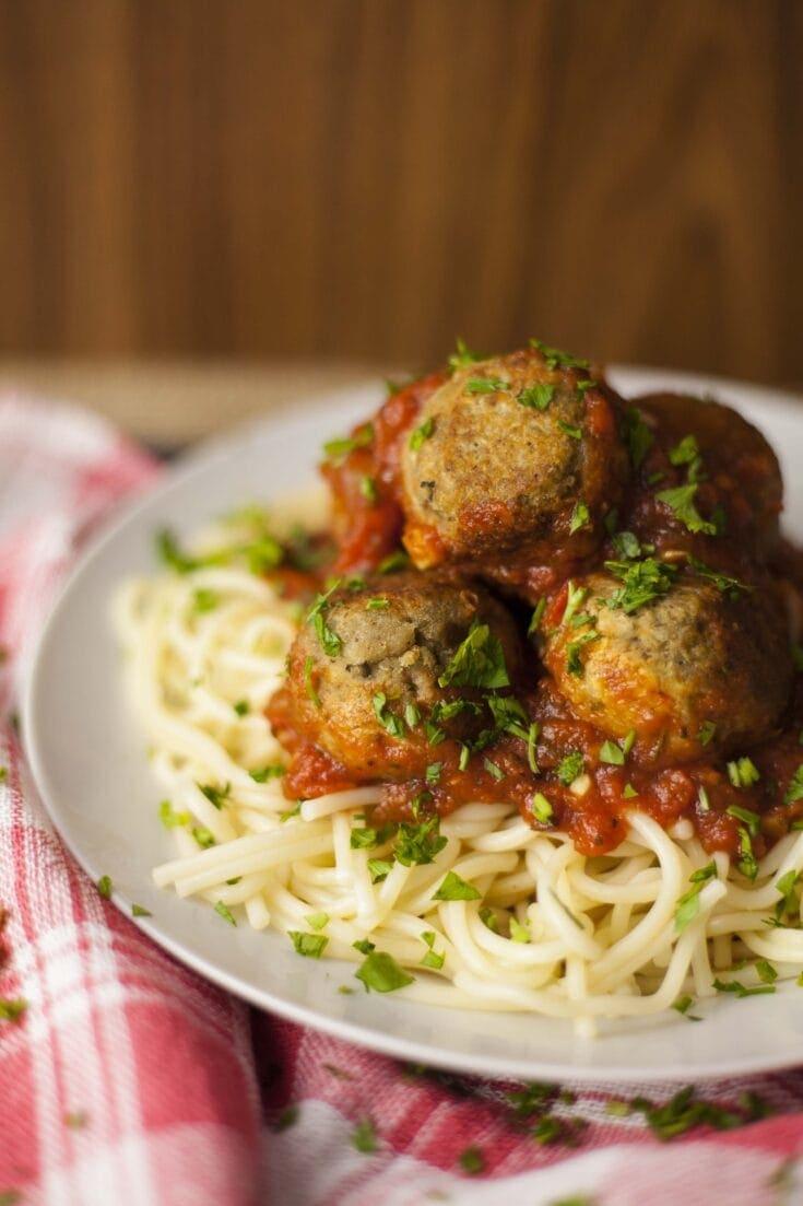 Easy Vegan Eggplant Meatballs Spaghetti