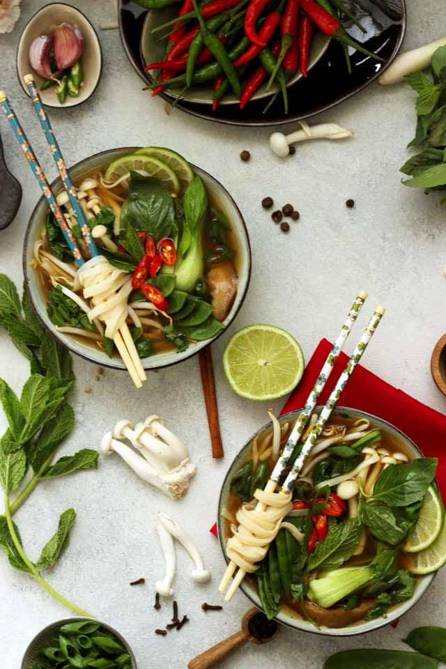 Easy Vegan Pho (Vietnamese Noodle Soup) • Happy Kitchen