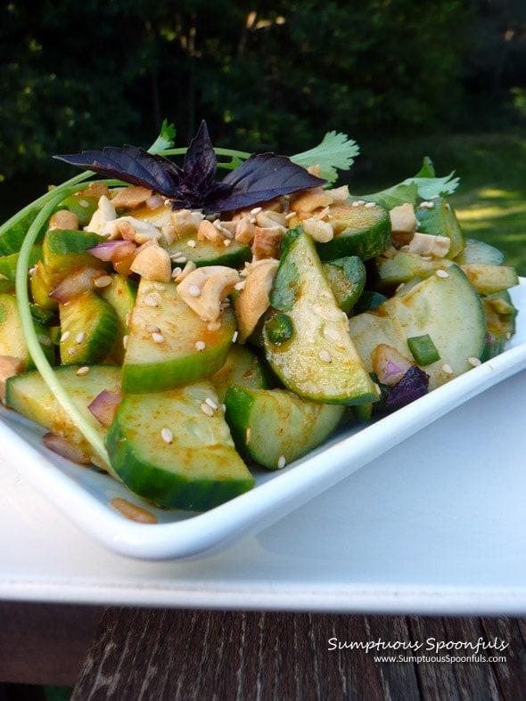 Half Moon Sesame Thai Cucumber Salad