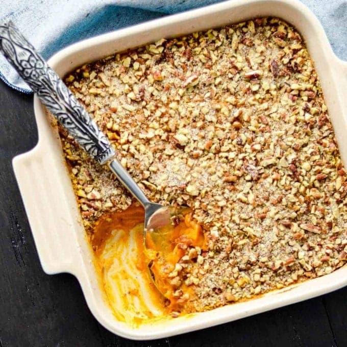 Healthy Sweet Potato Casserole! Paleo, Vegan gluten-free!