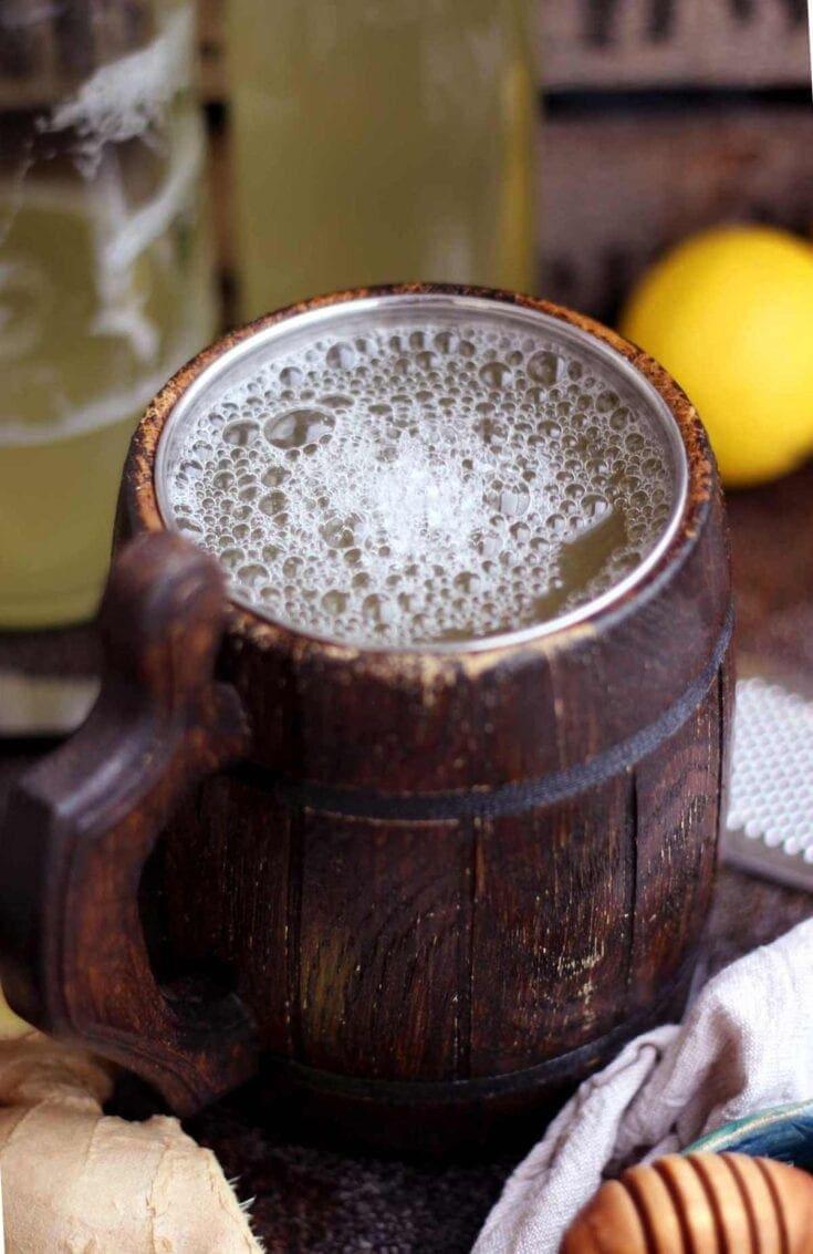 Easy Homemade Ginger Beer • Happy Kitchen