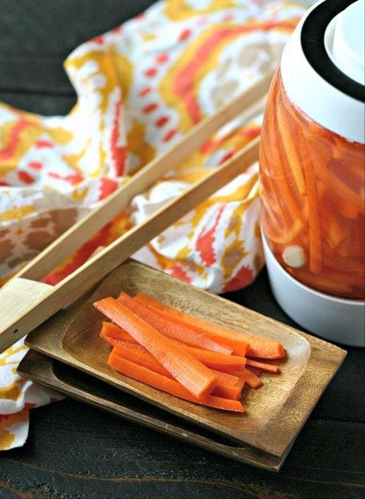 Fermented Garlic Carrot Sticks