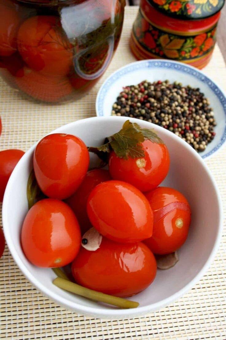 Russian Grandma's Pickled Tomatoes • Happy Kitchen