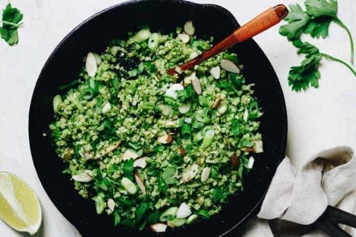 Easy Broccoli Fried Rice (AKA Riced Broccoli)!