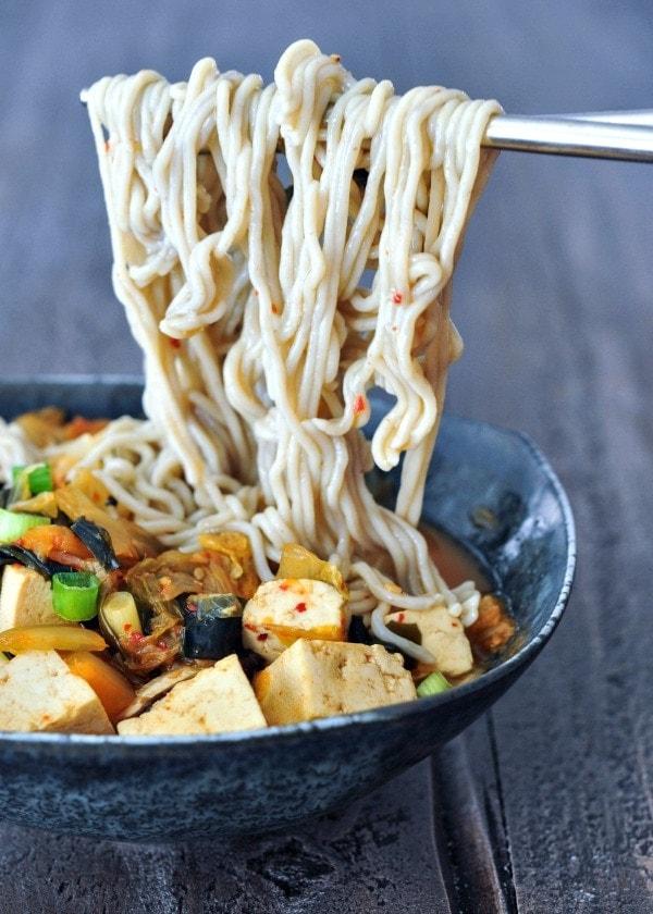 Instant Kimchi Noodle Soup