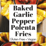 pinterest image for polenta fries