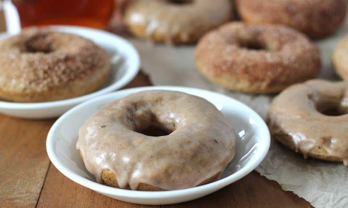 Chai-Spiced Baked Vegan Doughnuts
